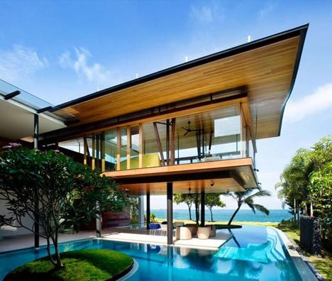 solar beach house design - amazing