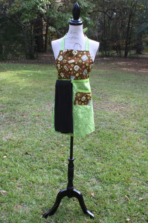 Organic Earth Day Children's apron.   Milena will have this.