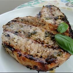 basil pork chops what a surprising dish light and fresh with the basil