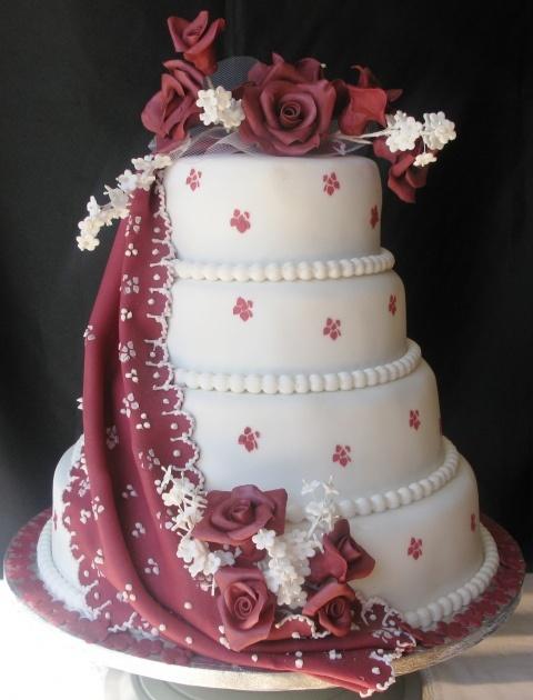 fondant drape cake