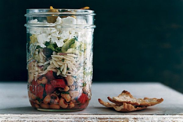 Greek Salad with Orzo and Black-Eyed Peas from Epicurious