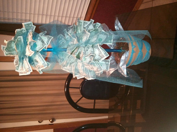 Money Tree - Wedding Gift idea Party planning ideas Pinterest