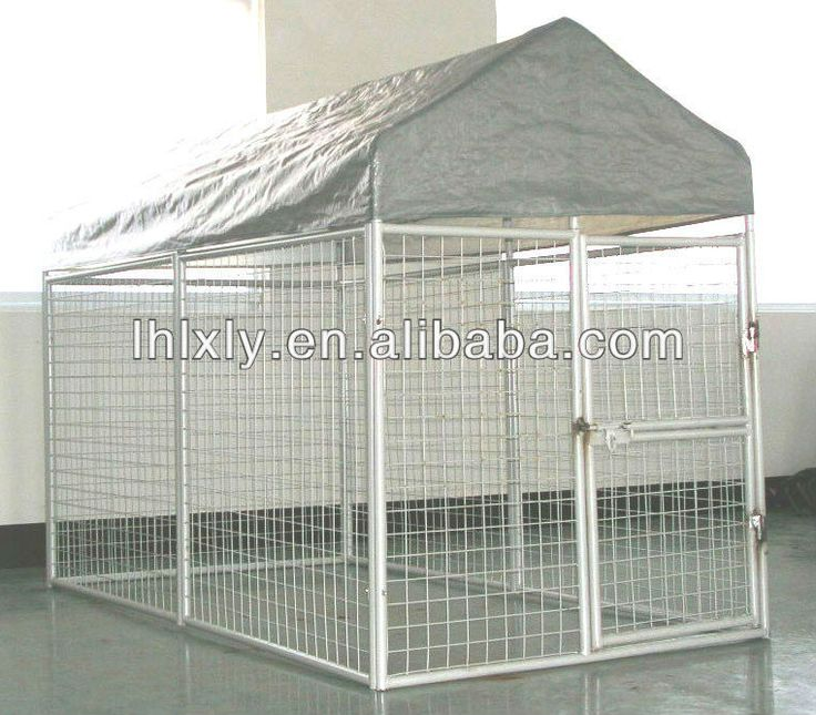 Metal large steel pet dog house dog cage pet house for Large dog cages for sale cheap