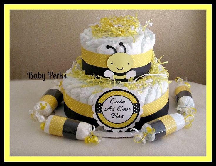 bumble bee diaper cake mother to bee baby shower baby. Black Bedroom Furniture Sets. Home Design Ideas