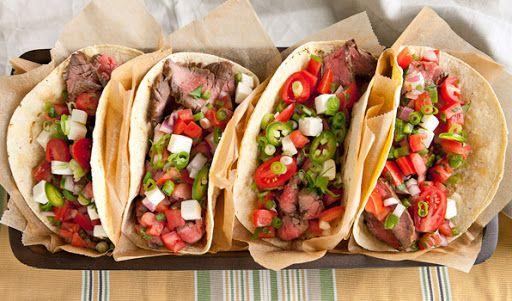 Sweet & Spicy Steak Tacos   Grill   Pinterest