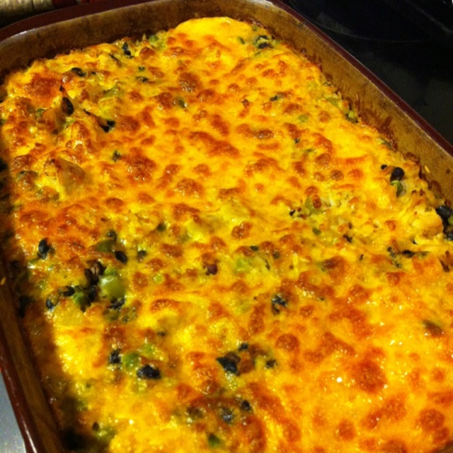 Chicken, black bean and rice casserole | recipes | Pinterest