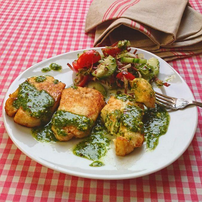 Halloumi with coriander, chilli and lime dressing #Tastebudladies # ...