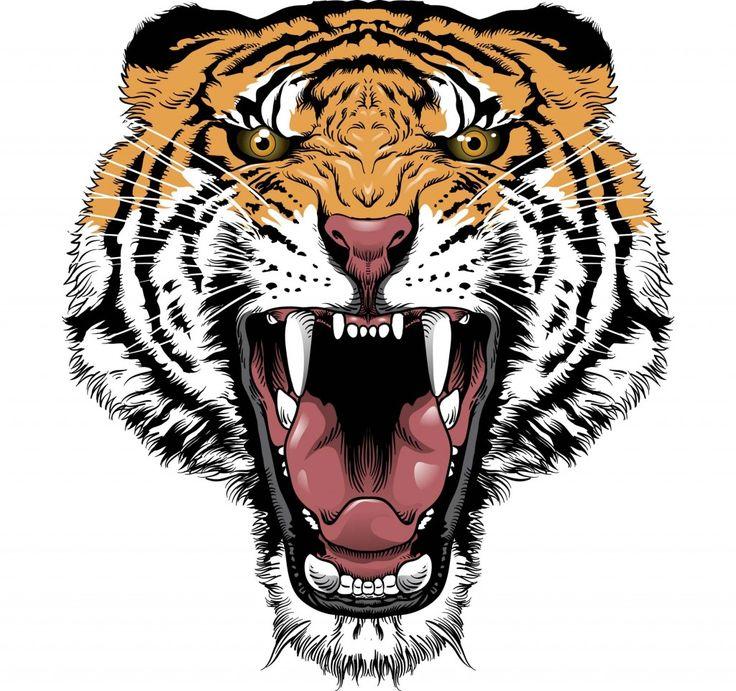 Simple tribal tiger