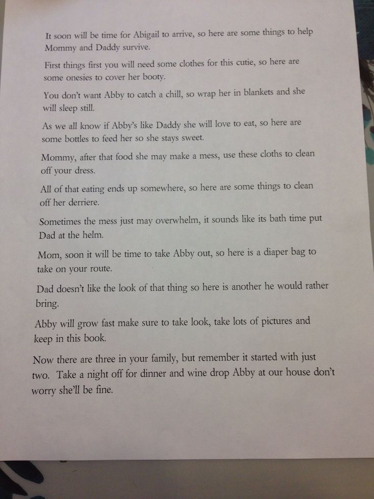 Baby Gift Poem : Baby shower gift poem
