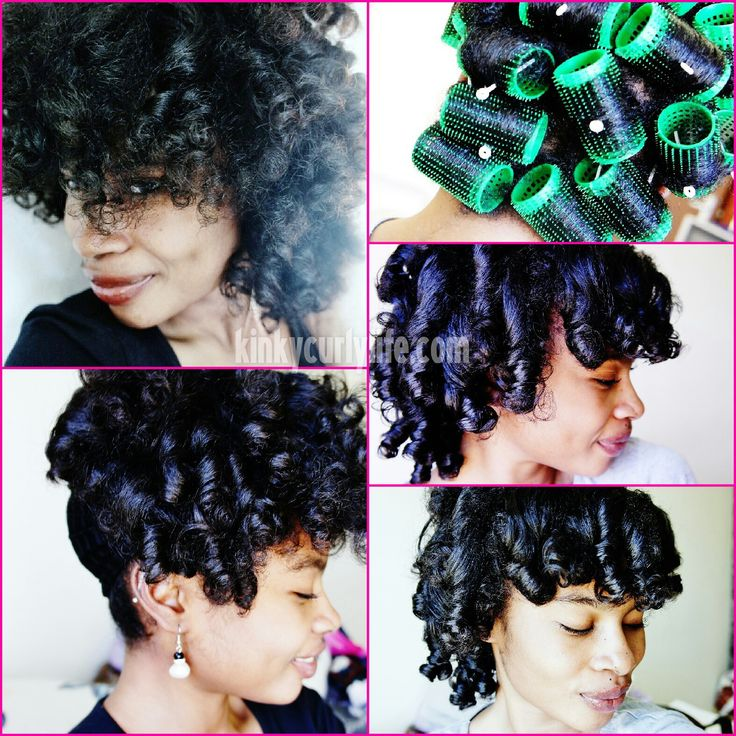 Wet Roller Set On Short Natural Hair