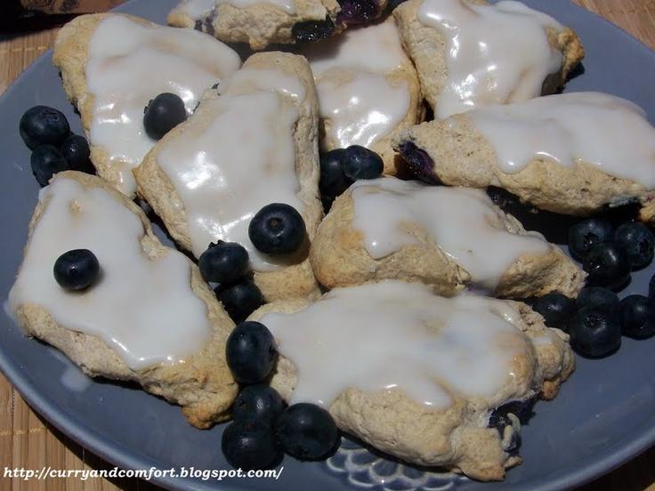 Blueberry Scones with Lemon Glaze | Scones | Pinterest