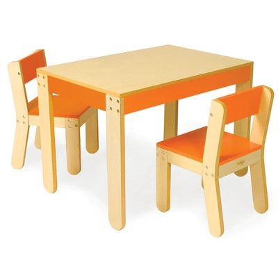 P Kolino Table And Chairs kolino Little One's Table and Chair Set | Wayfair