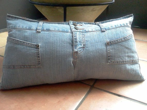Decorative Denim Pillows : Denim Decorative Pillow - Mudd - Upcycled