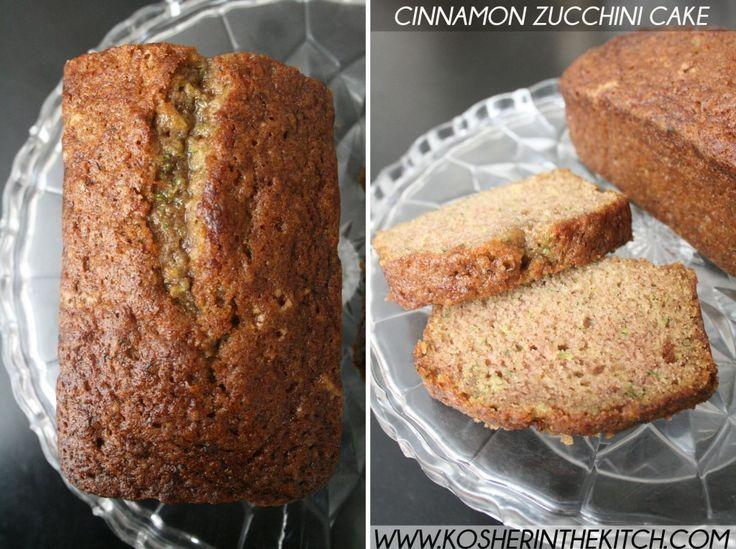 cinnamon zucchini cake by Kosher in the Kitchen