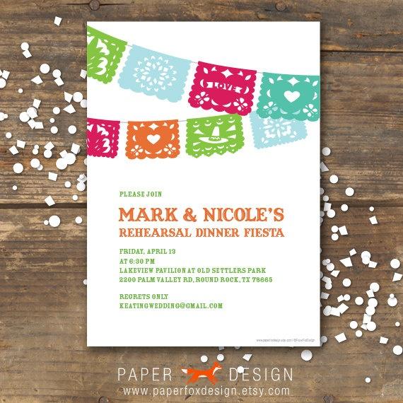 Rehearsal Dinner Invitation Fiesta Wedding DIY Printable Papel