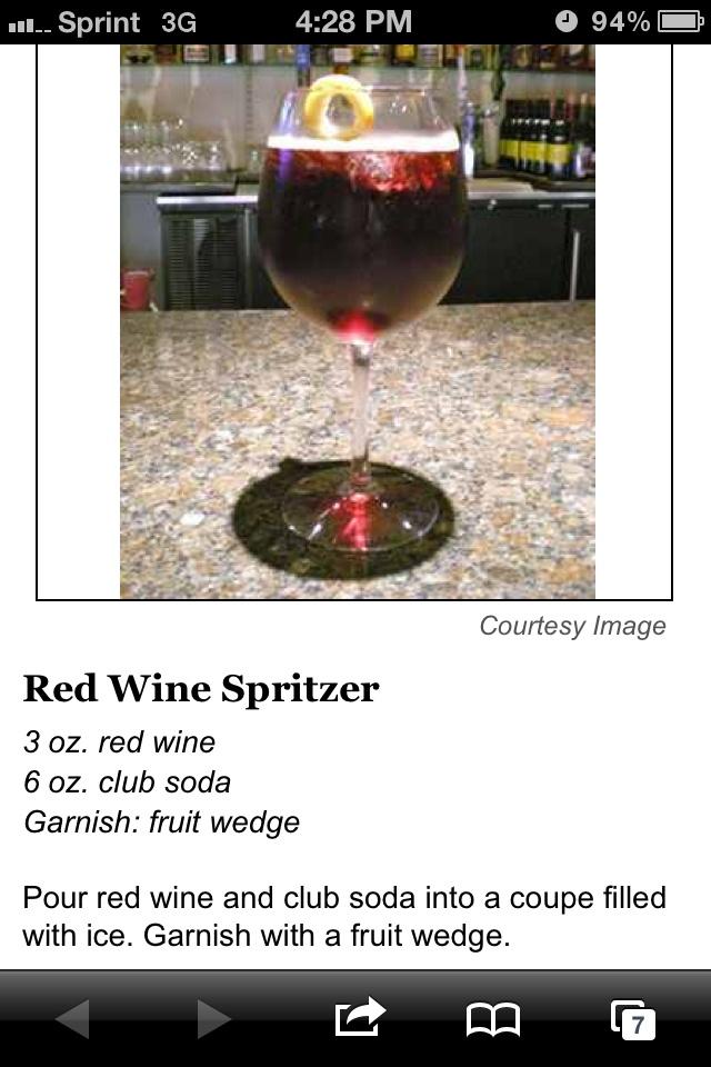Red wine spritzer. | Bevs | Pinterest