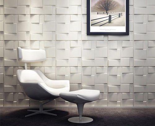 3D Board Wall Cladding Tiles Rubik Interior Decorative