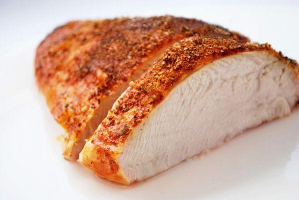 Turkey breast marinde bake