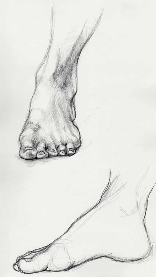 drawing of feet | ART LESSONS: People | Pinterest