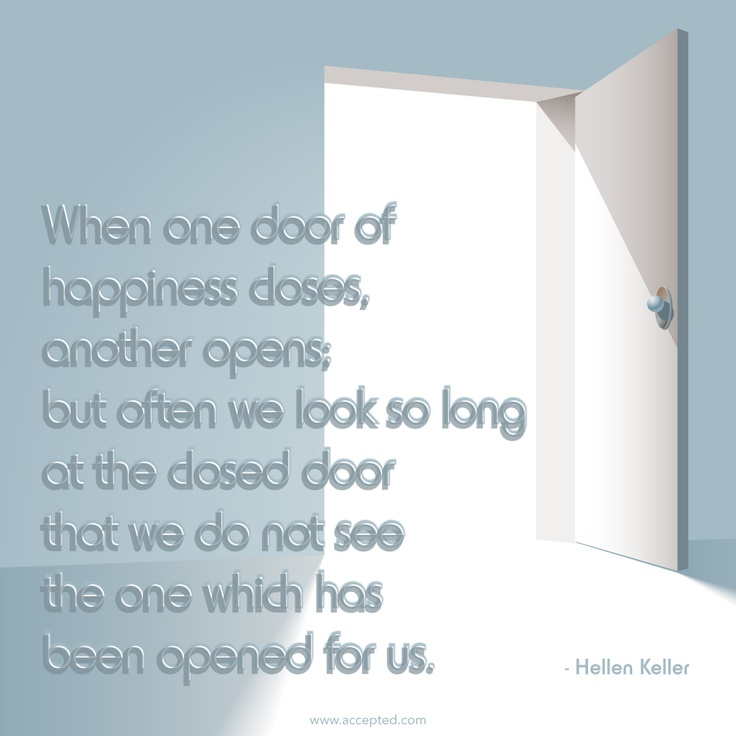 when one door of happiness closes essay