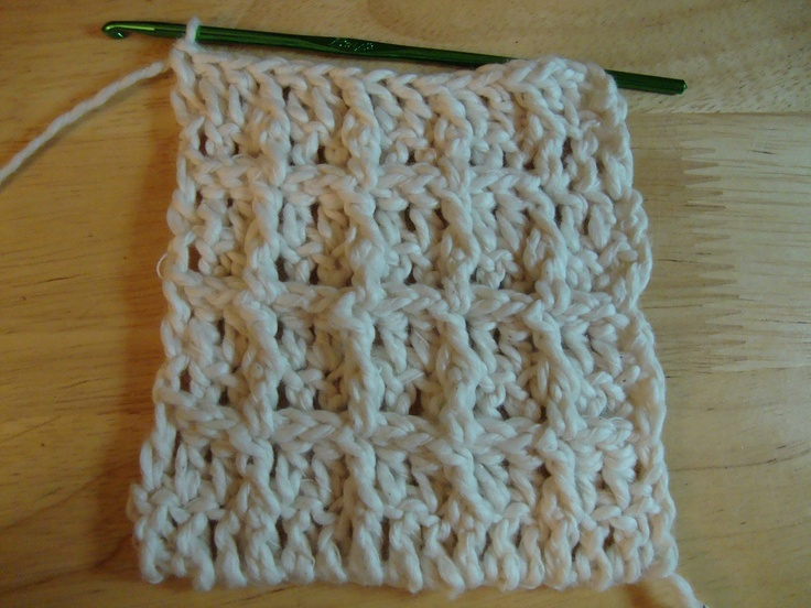 Waffle stitch dish cloth. Free pattern crochet Pinterest