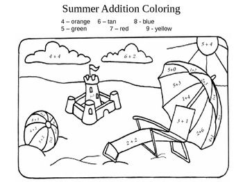Beach Addition Coloring