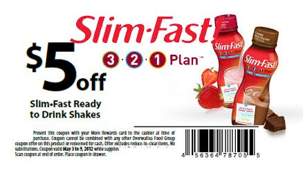 Slim fast coupons august 2018