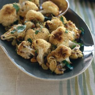Roasted Cauliflower with Pinenuts and a Raisins. (Substitute capers ...
