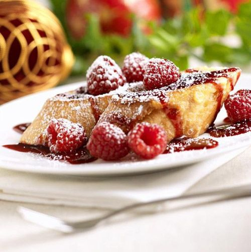 Ridiculously Raspberry French Toast | Breakfast | Pinterest