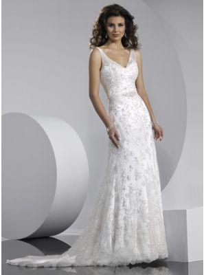 Robe de mariée dentelle col V  Robe de mariée dentelle  Pinterest