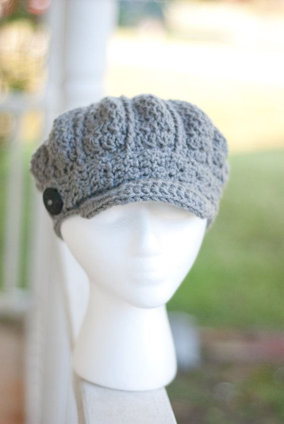 Crochet Newsboy Hat Pattern : PATTERN ONLY Crochet Womens Newsboy Cap. Easy. Pattern number 105- F ...