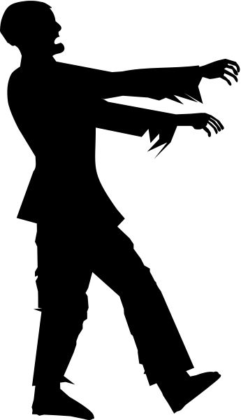 Zombie Silhouette Zombie silhouette clipart