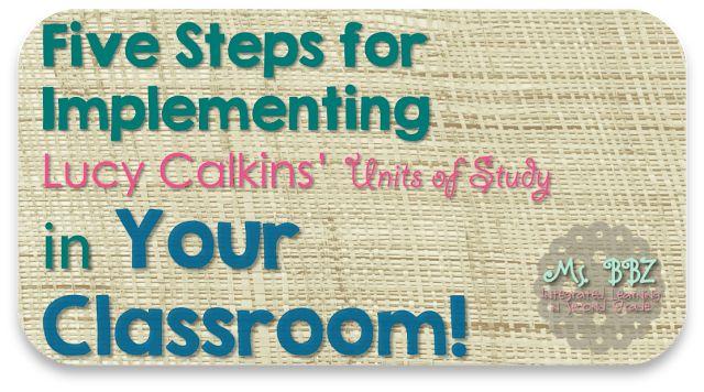 lucy calkins writing workshop model