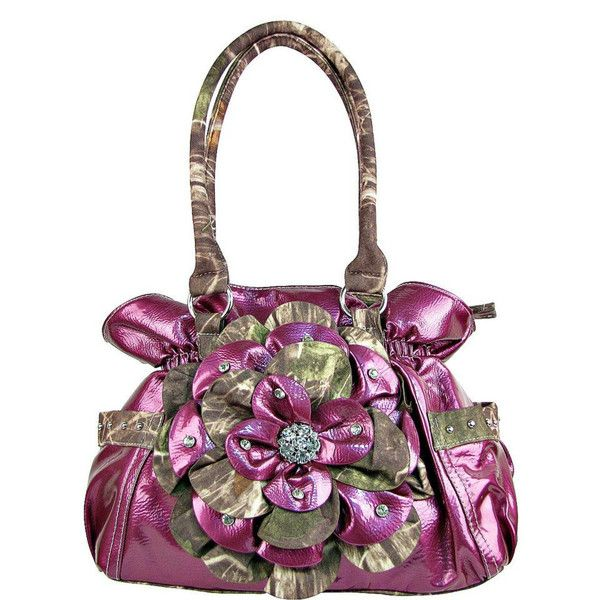 Purple Camouflage Flower Decorated Handbag #camo #western #country # ...