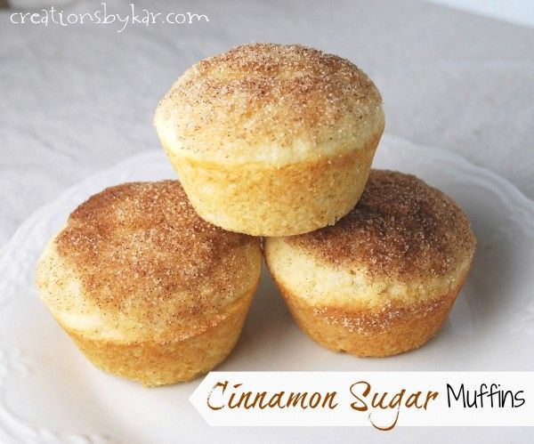 Cinnamon Sugar Muffins-- These taste similar to sugared doughnuts. My ...