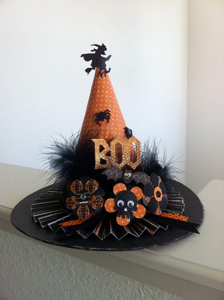 Halloween Witch Hat Paper Mache Decoration ~ 093352_Halloween Decoration Ideas Witch