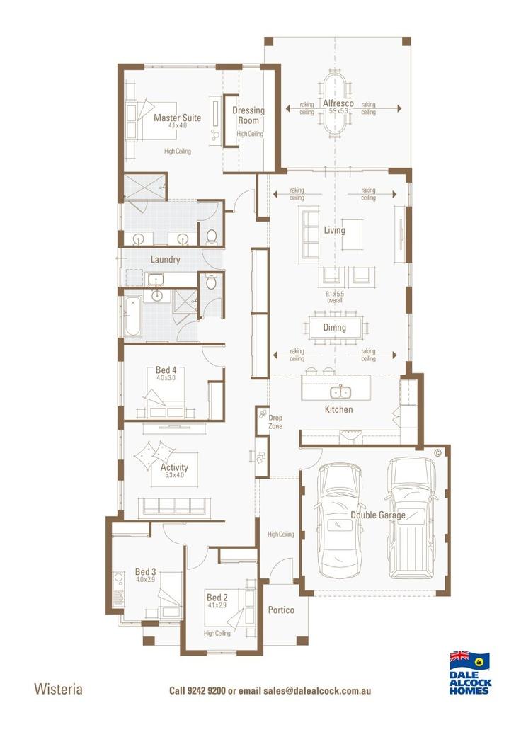 Wisteria floorplan dale alcock dream home pinterest for Dale alcock home designs