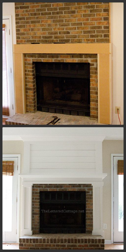 Before And After Fireplace Makeovers Pinterest