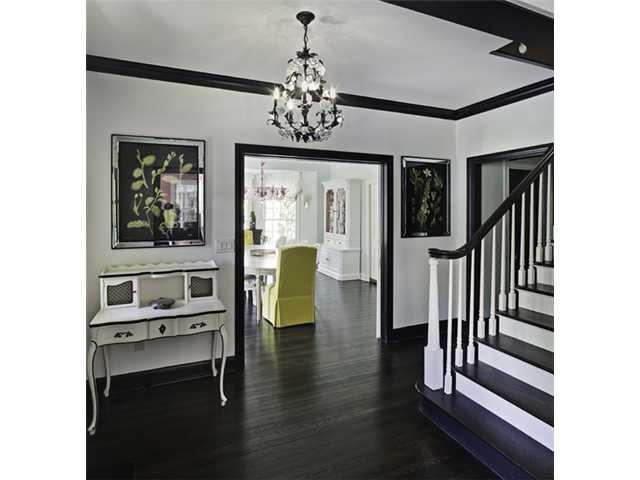 Dark Wood Floors with White Trim 640 x 480