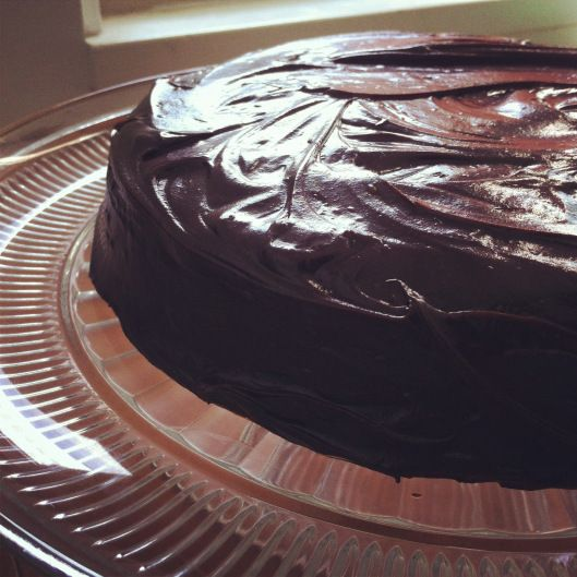 Devil's Food Cake with Chocolate Ganache Frosting