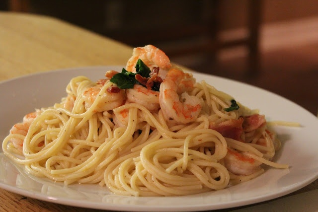 Shrimp and Bacon Pasta | Pasta Recipes | Pinterest
