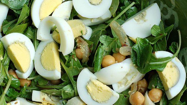 Warm Spiced Chickpea Arugula Salad by Eve Fox, Garden of Eating blog ...