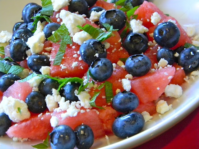 Red, White, and Blue Salad | lets toss it | Pinterest