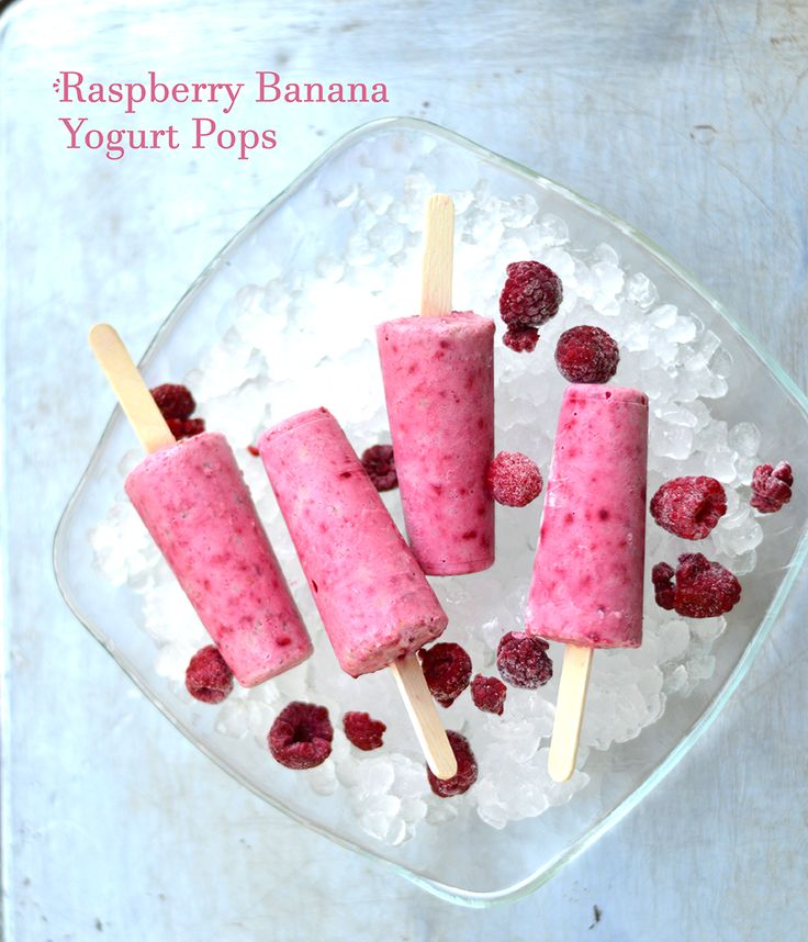 Raspberry And Goat's Milk Yogurt Popsicles Recipe — Dishmaps