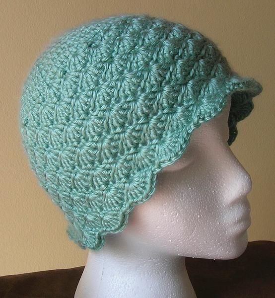 Crochet Shell Beanie Hat Pattern : Free Crochet Hat Pattern. Crafts Pinterest