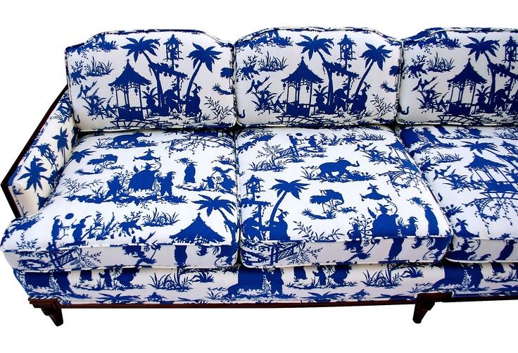 One Kings Lane Chinoiserie Toile Sofa