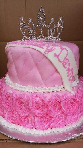 Pink princess cake Party Ideas Pinterest