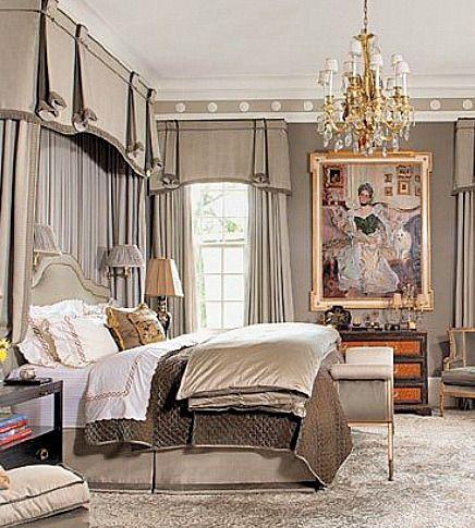 Luxe Bedroom Design Valences Pinterest