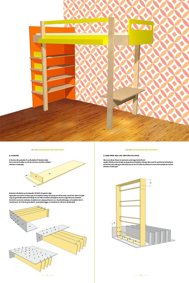 Furniture plans: do it yourself plans for loft and bunk beds. Ana b...