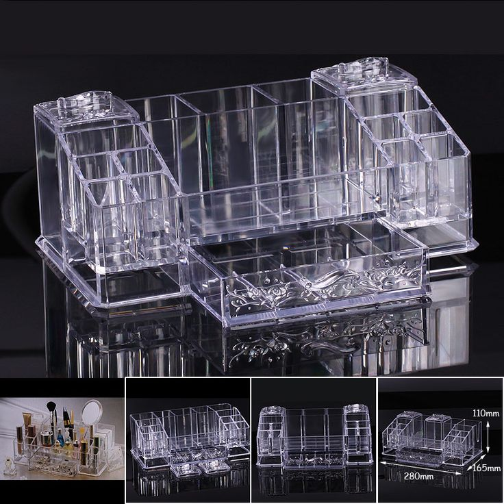 New Cosmetic Organizer Makeup Drawers Display Box Acrylic